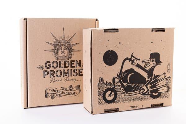 Compra caja cerveza artesana American Dream y American Dream BBA por Abdul Vas y Golden Promise Brewing